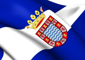 Jerez de la Frontera Flag, Spain.